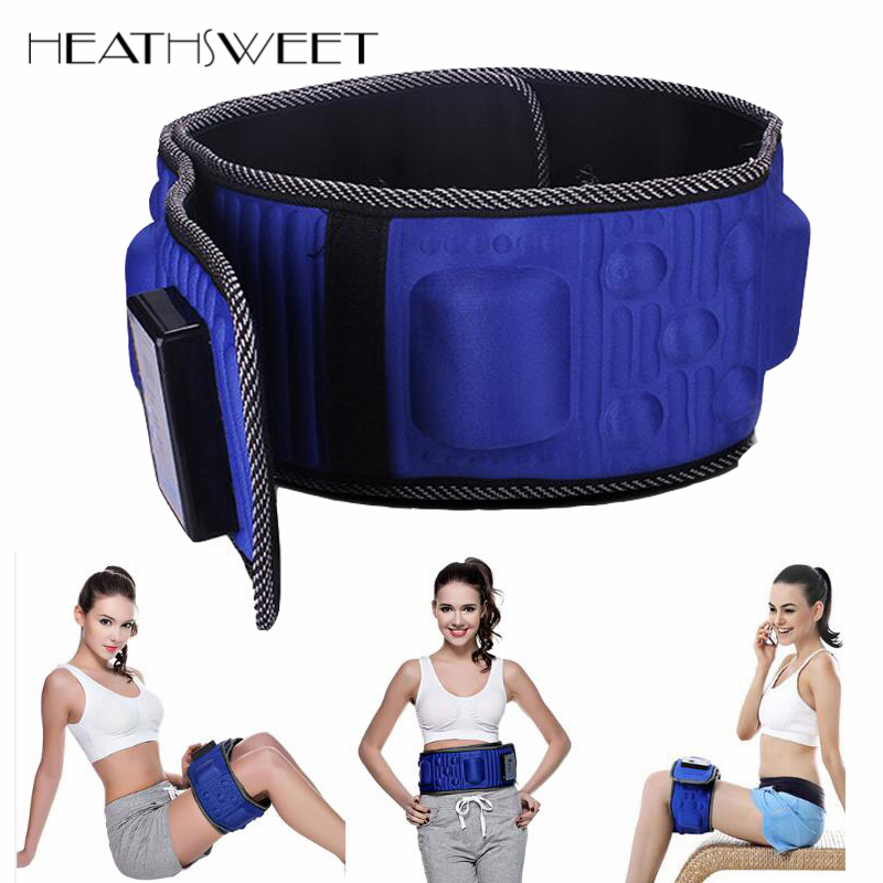 Healthsweet Infrared Electric Body Slimming Belt Heating Vibration Weight Loss Fat Burning Massage Sauna Waist Slimming Massager new electric body waist slimming sauna tummy belt fat burner quick weight loss 110v us plug y207e best sale