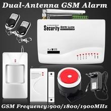 Nuevo Wireless/wired GSM Ladrón de la Seguridad Casera de Voz Android IOS Sistema de Alarma de Marca Auto del Sintonizador Sms de control Remoto ajuste