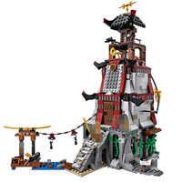 Ninja latarnia morska Siege Sky piraci zestaw klocków zabawki kompatybilne Ninjagos figurki cegły zabawki dla dzieci