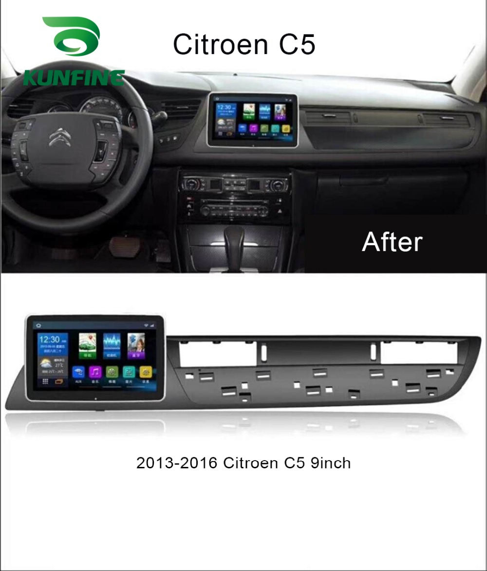 Quad Core 1024*600 Android 6.0 Car DVD GPS Navigation Player Deckless Car Stereo For Citroen C5 2013-2016 Headunit Radio