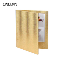 10 Pcs Lot LED Restaurant Menu Covers Golden Color LED Menu Folders Bar List Holders Accept