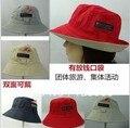 El envío gratuito! 2014 Nuevo 10 unids/lote Moda primavera y el verano de doble cara cubo sombreros de Playa del sombrero del Sol Casquillo de la pesca 10 Colores Eligen