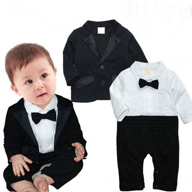 Aliexpress.com : Buy Formal Newborn Romper Clothes for Boy Wedding ...