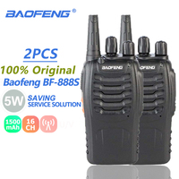 2Pcs Baofeng BF 888S Walkie Talkie 5W BF888S UHF Radio Transmitter BF 888S Comunicador Walki Talki Transceiver Ham Holder Telsiz