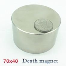 1 unids N52 imán De Neodimio 70x40mm galio metálico caliente super strong imanes redondos 70*40 poderoso imanes permanentes