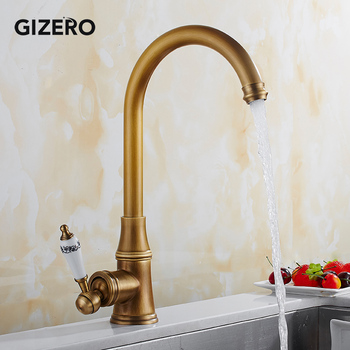 Tall Basin Faucets Antiek Bronze 360 Swivel with Ceramic Handle Bathroom Vessel Sink Mixer Hot And Cold Water Taps ZR213