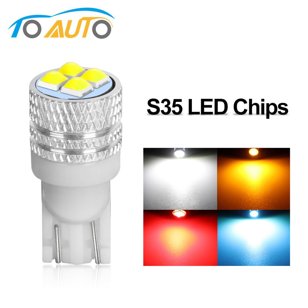 1PCS W5w Led T10 LED Bulbs S35 Chips For Car Parking Position Lights Interior Map Dome Lights 12V 6000K White Amer Bright