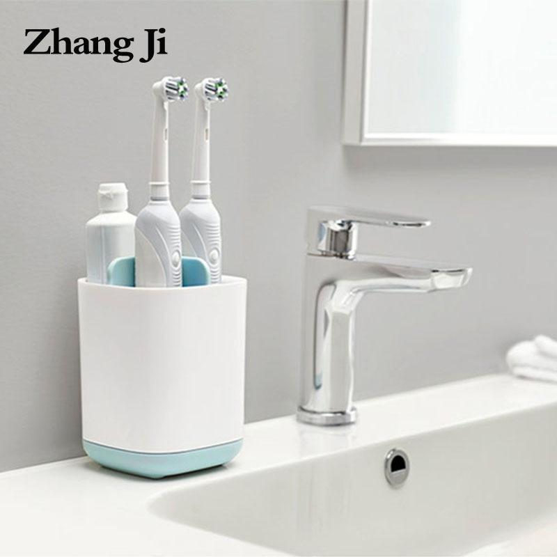 Zhangji Hot Toothbrush & Toothpaste Storage Holder Cup Toothbrush Organizer Box Case Bathroom Accessories Toothpaste Dispenser