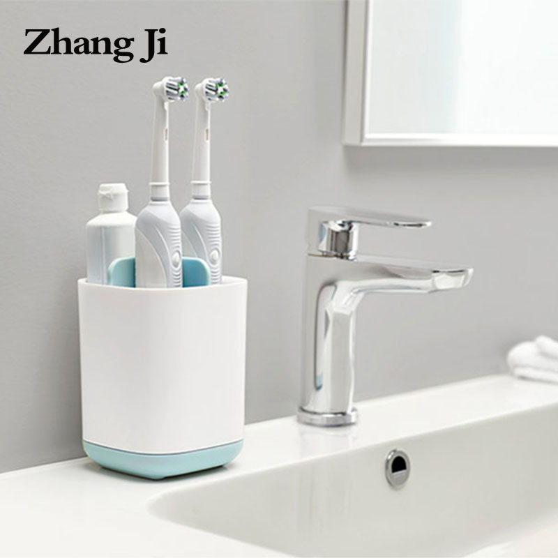 Zhangji Hot Toothbrush & Toothpaste Storage Holder Cup Toothbrush Organizer Box Case Bathroom Accessories Toothpaste Dispenser
