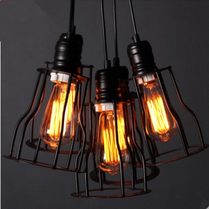 Nordic Retro Style Loft Industrial Vintage Lamp Edison Pendant Light Fixture Lighting Hanging Lights Lampen Lamparas De Techo 2 pcs loft retro light rusty color hanging lamp cafe bar pendant lights creative edison lamps industrial style pendant lighting