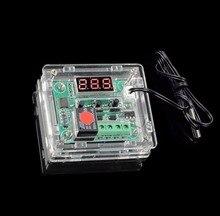 W1209 durumda muhafaza şeffaf akrilik kutu temizle kapak termometre termo denetleyici (değil dahil W1209)