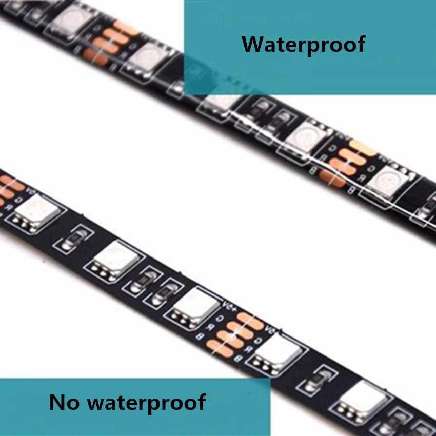 Tira de LED osden de 5V con USB 5050SMD RGB, tira de LED impermeable o no resistente al agua, leds 60/m 0,5 m 1m 2m 3m 4m 5m para iluminación de fondo