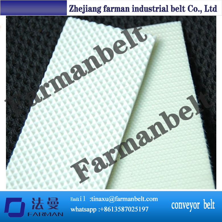 hot sell PVC green colour rough or smooth surface conveyor belt grass pattern rough surface green pvc skid conveyor belts