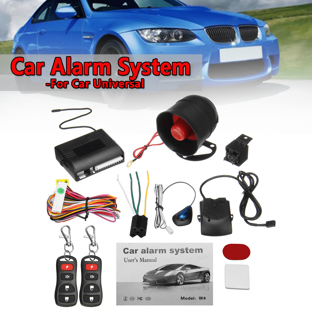 Universal One Way Car Vehicle Burglar Protection Alarm