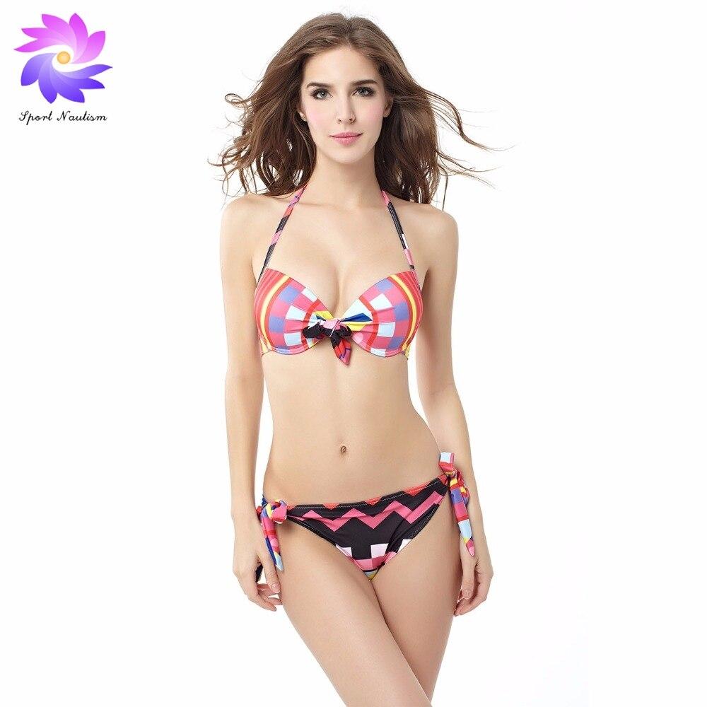 Womens Halter Ethnic Pattern Bikini Stylish Chevron Print Swimwear Swimsuit for Summer BK15073 missoni for target travel tote colore chevron pattern