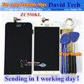 Высокое Качество Сенсорный Экран + ЖК-Дисплей Планшета Ассамблея Для Asus Zenfone Max ZC550KL 5.5 дюймовый Мобильный Телефон Черный Белый 1280*720