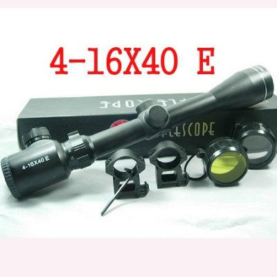 4-16x40E Outdoor Hunting  Red Illuminated Tactical Rangefinder Riflescope Hunting Long Range Air Gun Rifle Scope Firearm Sight