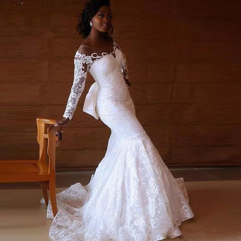 Wedding Gown With Neck Detail