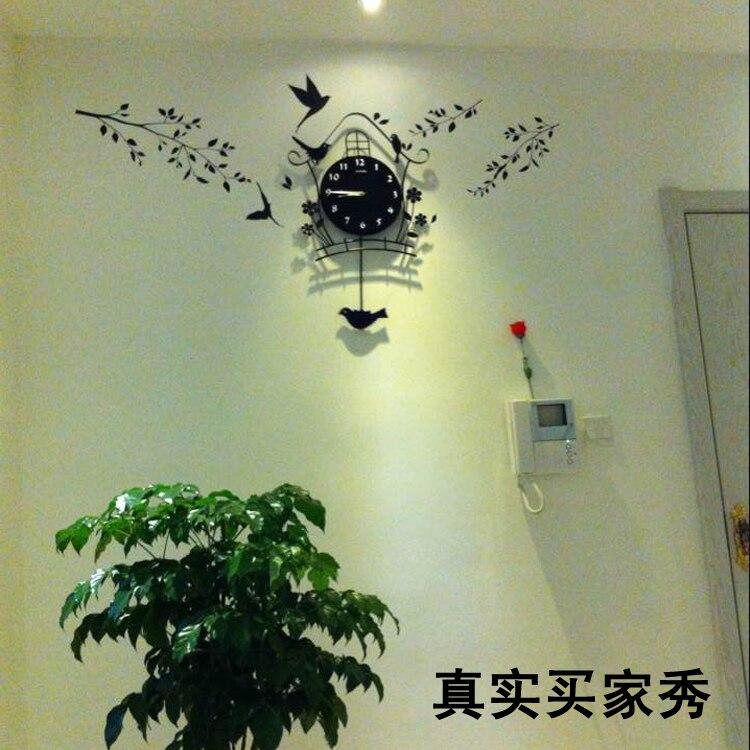 Modern decoration fashion bird wall decor Clocks vintage Swing wall ...