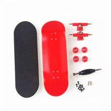 Canadian Maple Red Fingerboards Professional Wood Finger Skate Finger Boards Nickel Bearing Finger Skateboard Birthday Gift