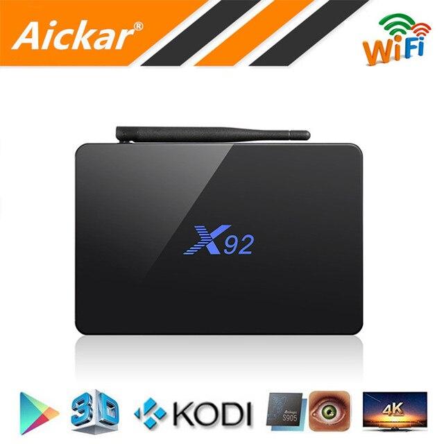 Newest X92 TV Box Android 6.0 Amlogic S912 Octa Core Max 3GB/32GB KODI 16.1 Bluetooth 4.0 4K 2.4G/5.8G WIFI H.265 Smart TV BOX