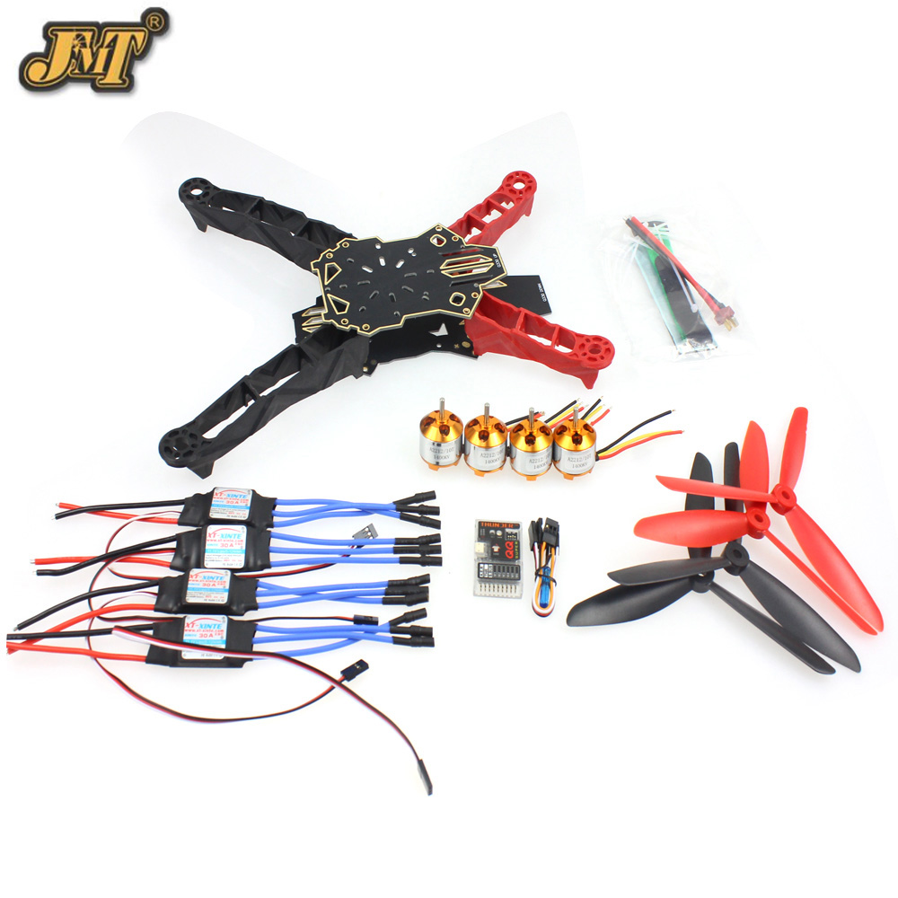 JMT Q330 Across Frame QQ Super Controller 1400KV Motor 30A ESC Propeller Set for DIY RC Drone Quadrocopter Aircraft 18650 li ion lithium battery capacity tester 1 2v 12v resistance lead acid battery capacity meter discharge tester