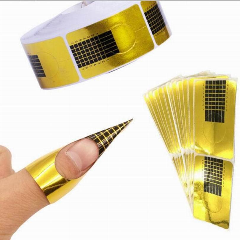 DIY self-adhesive nail forms sticker for nail phototherapy extension form tape acrylic nail tips decoration as nail art tool