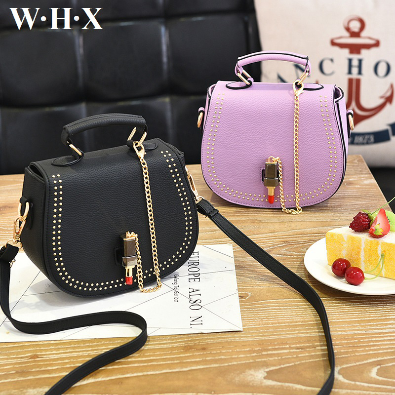WHX Women Bags Leather Pu Fashion Style Chain Lipstick Shoulder CrossBody Bag Women Messenger Bag Female Handbags Brands Purse pure sine wave solar inverter 1000w 12v 220v car power inverter voltage converter power supply 12v 24v dc to 110v 120v 220v ac