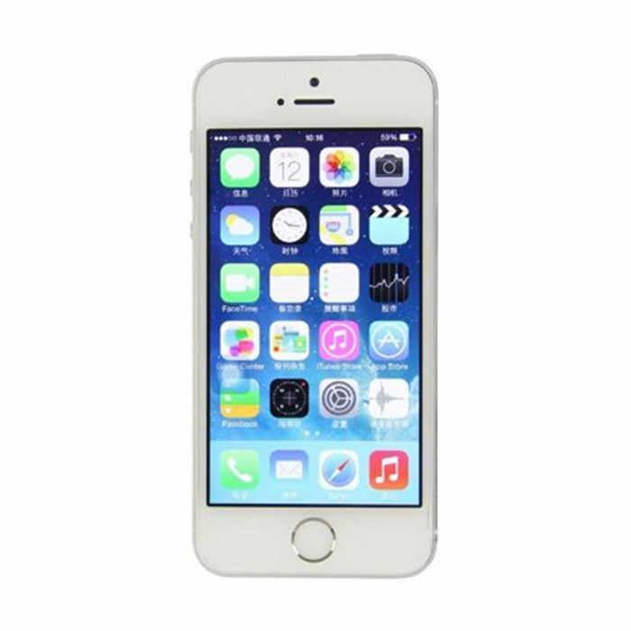 هاتف أيفون 5s غير مقفول أصلي 16 جيجابايت/32 جيجابايت/64 جيجابايت روم 8 ميجابكسل معرف باللمس iCloud App Store واي فاي نظام تحديد المواقع 4.0 بوصة بصمة دائرة الرقابة الداخلية