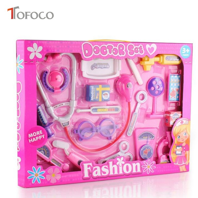 Play Toys For Girls : Tofoco pcs plastic play doctor set toys for kids girls