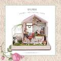A022 большой дом голос огни и музыка diy деревянный кукольный домик кукольный дом миниатюрный Сад игрушки для девочек бесплатная доставка
