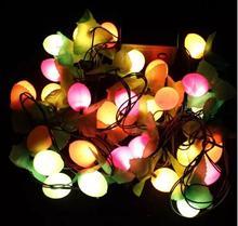 Рождественский декоративная подсветка для вечеринки строки Праздничные огни фруктовая лампа Строка Фея Света елку лампы Декор с вилкой 3 м