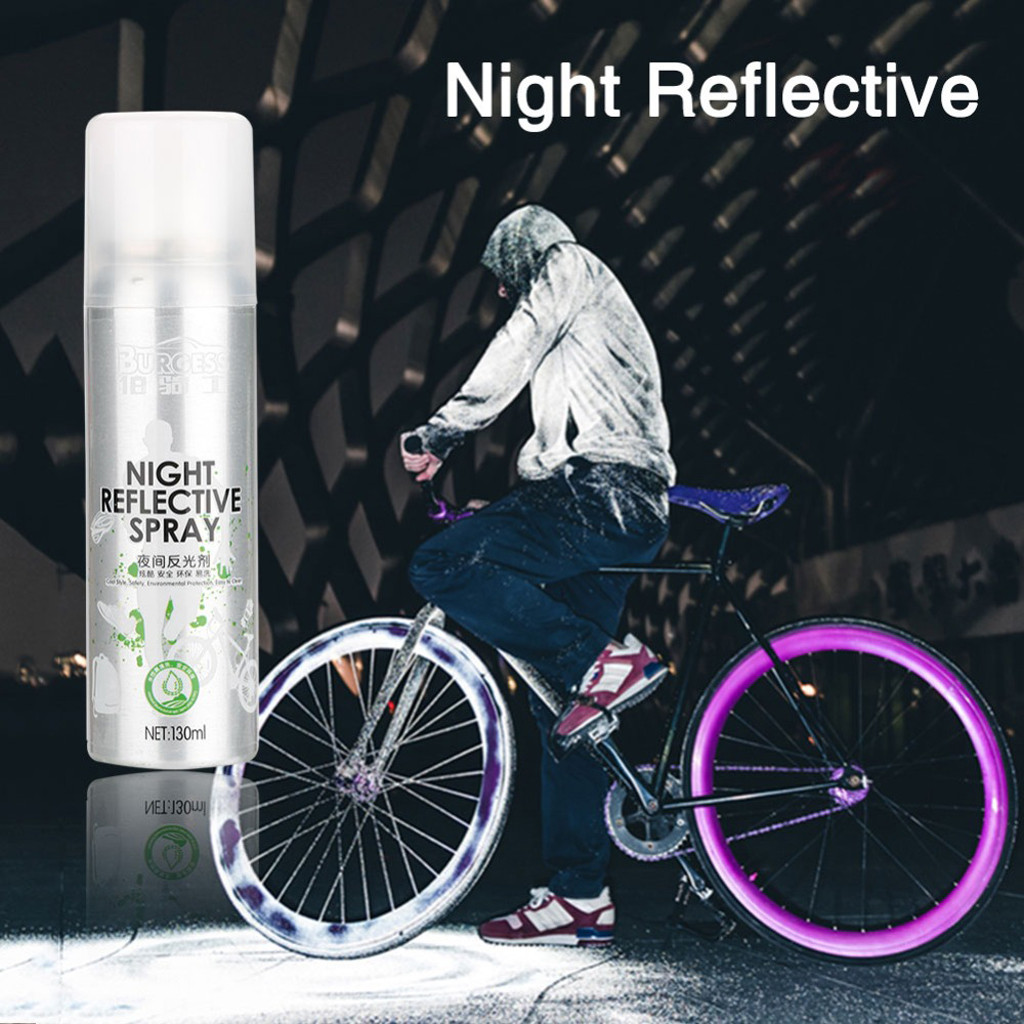 Night Reflective Spray Paint 130ml Outdoor Safety Reflecting Mark Anti Accident Riding Bike Running Fluorescence Paint Jun04 reflective spray paint