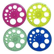 1 шт. Лоскутная линейка 360 градусов круглый пластиковый материал DIY ручные инструменты Швейные аксессуары линейка четыре цвета на выбор