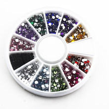 Nail Art Decorations Nagels DIY Glitter Rhinestones Accesspries Supplies Nailart 3D Decorazioni Unghie Deco Ongle Strass 2mm 067(China)