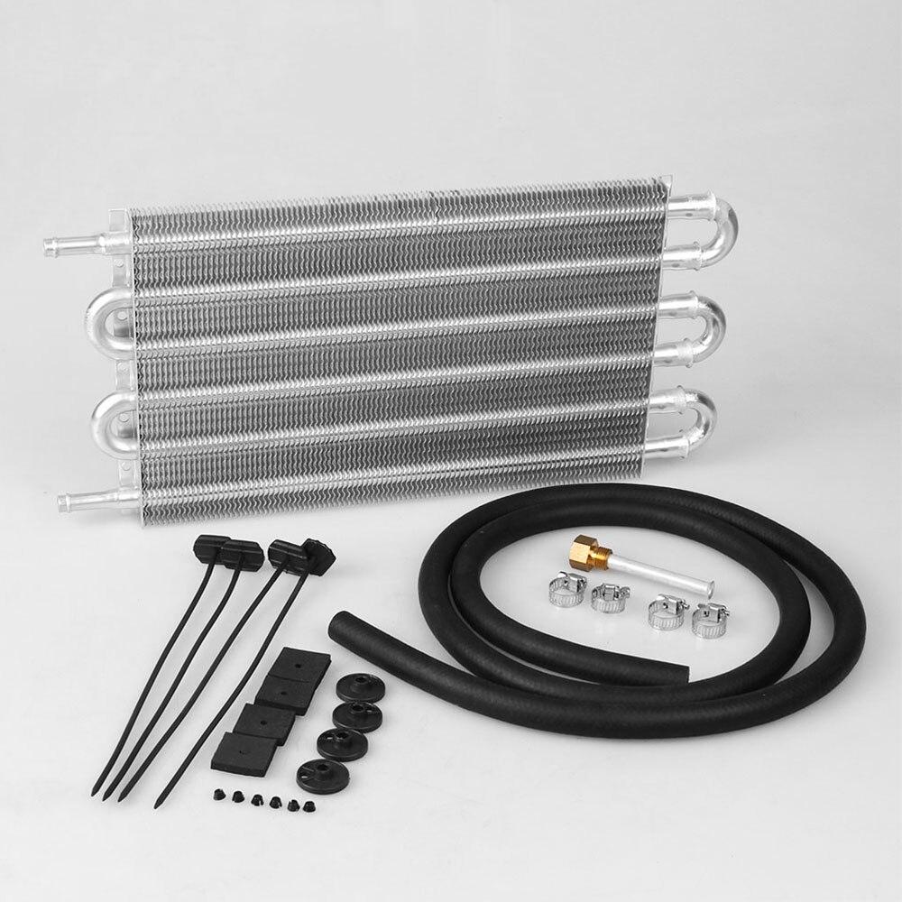 2018 6 Row Aluminum 305X190X20 Universal Auto Manual Radiator Converter/Car Transmission Oil Cooler Kit
