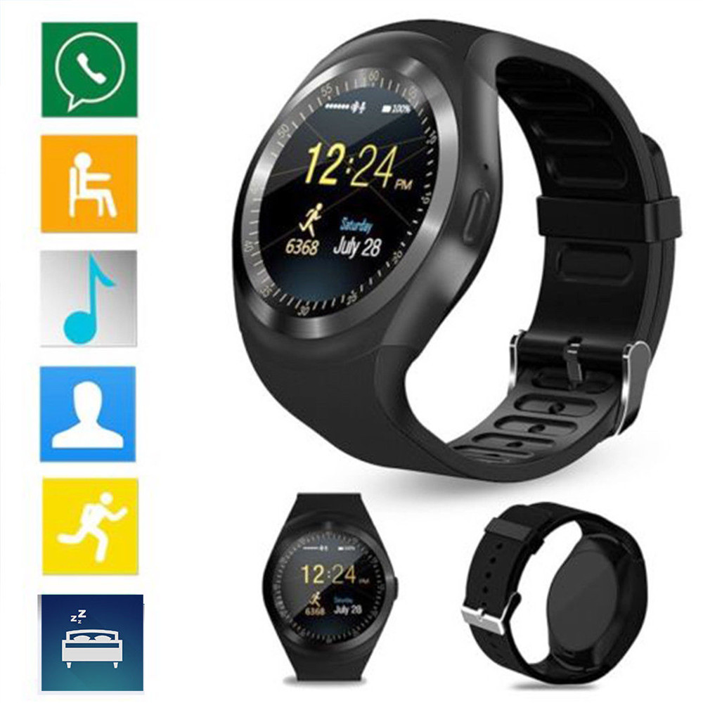 Cdragon Waterproof Y1 Smart Watch Bluetooth Pedometer SIM Sports Fitness For Android IOS