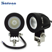 2pcs 10-30V LED 10W led DRL spotlight Floodlight 12V work light cree tractor truck working lamps