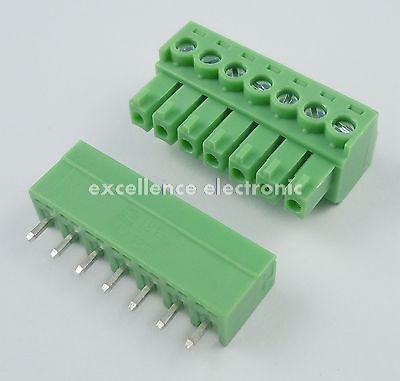 10 Pcs 3.81mm Pitch 7 Pin Straight Screw Pluggable Terminal Block Plug Connector 15EDG 1804849[pluggable terminal blocks 7 pos 7 62mm pitch through mr li