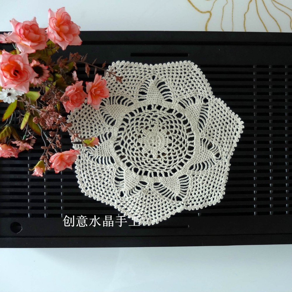 Japan Sytle Fashion 12 Piclot Luxury Cotton Crochet Lace Doilies