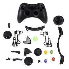 Bezprzewodowy kontroler do gier twarda obudowa czarny Gamepad ochronna powłoka etui pełny zestaw z przyciskami gałka analogowa zderzaki do konsoli XBox 360