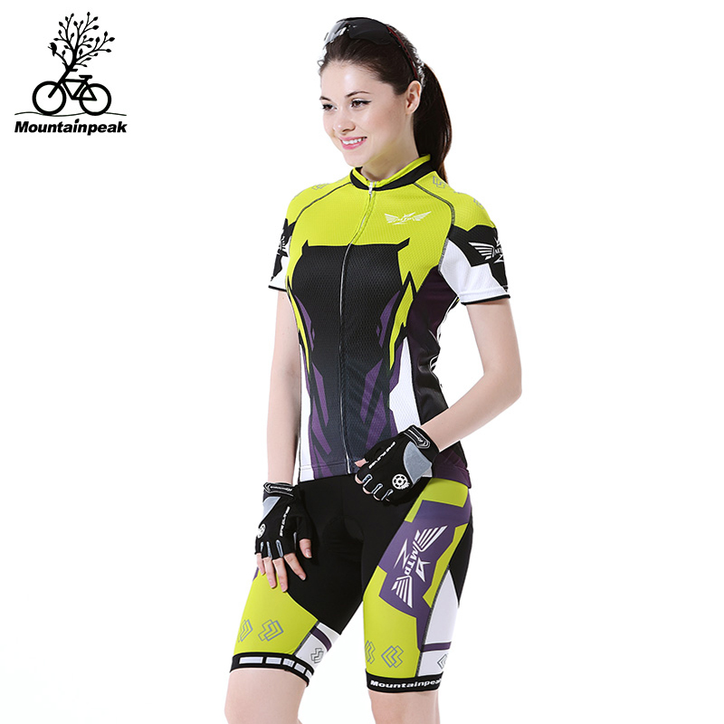 2017 Womens Summer Anti-Sweat Quick Dry Breathable Cycling Jersey OutSports Short Sleeve Bike Jersey Sets Bicycle Clothing Sets ...