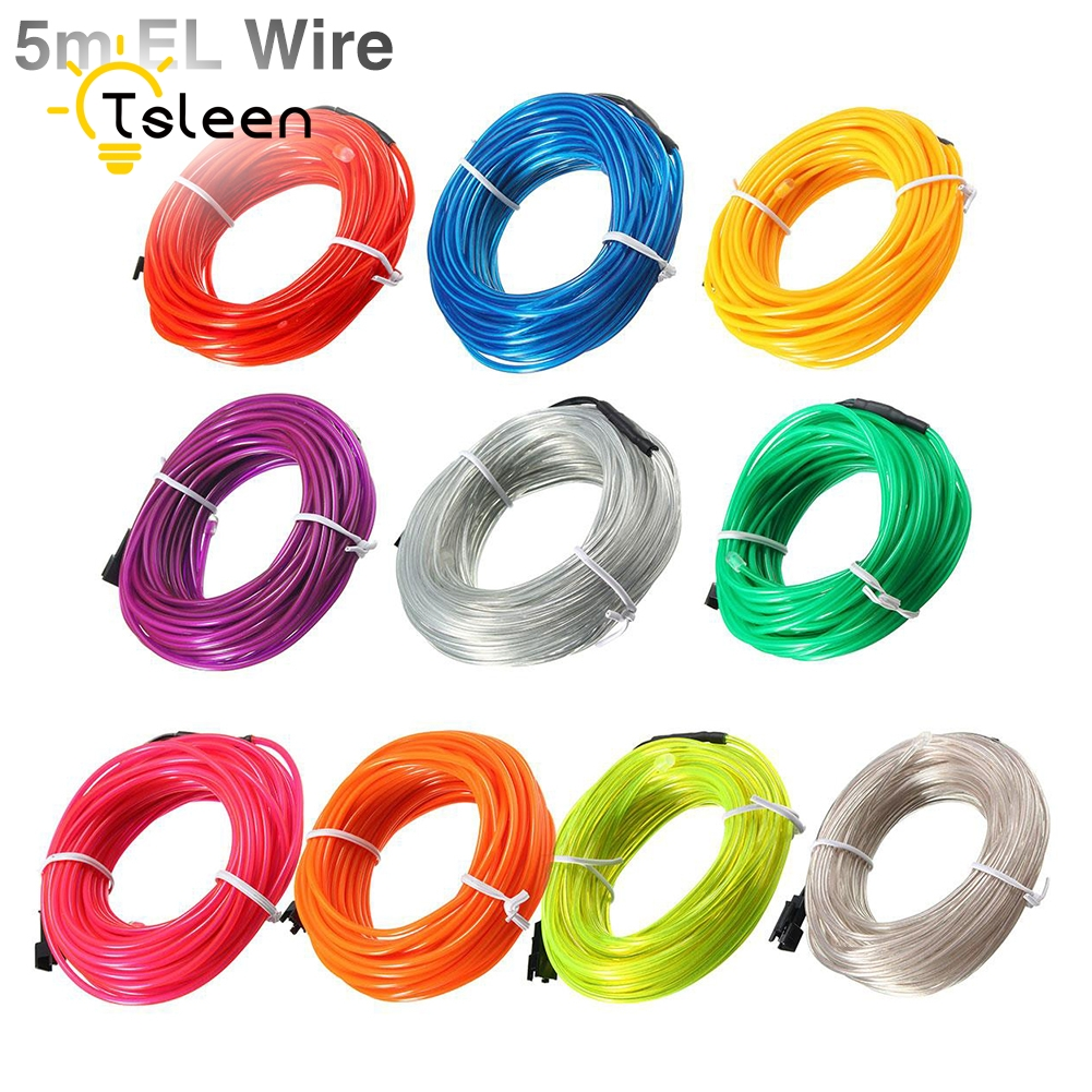 Billiga Led Strip EL Wire 2 3 5M Färgrik Batteridriven 3V Flexibel - LED-belysning - Foto 5