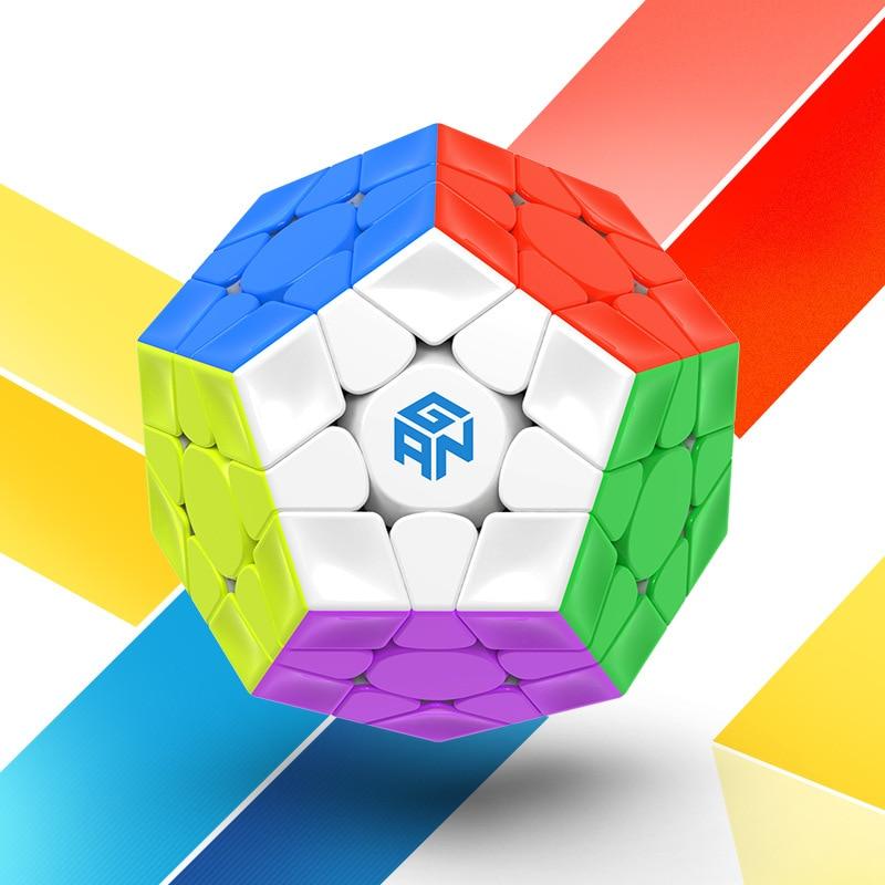 GAN 3x3x3 magnétique Megaminxeds Magic Speed Cube aimants professionnels sans colle 12 côtés Puzzle Cubes jouets éducatifs pour enfants