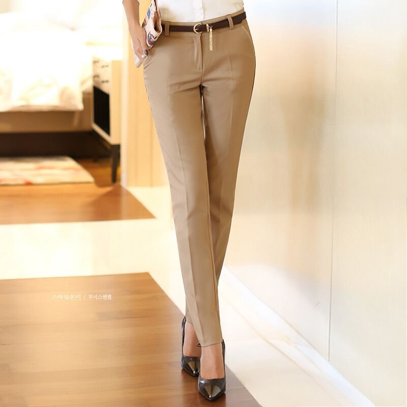 2016 spring new fashion female stretch pants ol career women's