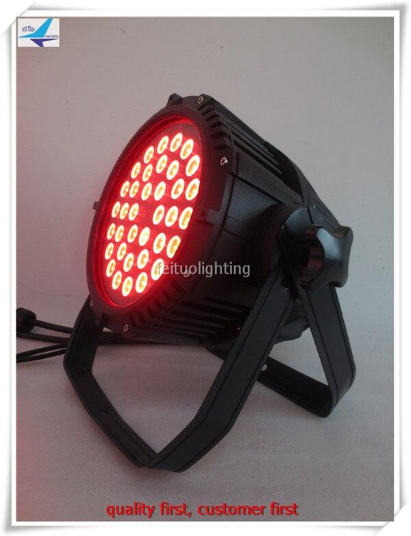T- 6 pieces high power 36x10w rgbw 4in1 waterproof led par 64 DMX Party DJ Disco Bar LED Par Light