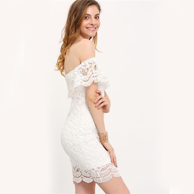HTB1slMcKpXXXXXraXXXq6xXFXXX1 - Women Mini Dresses White Off the Shoulder Bodycon Dress JKP045