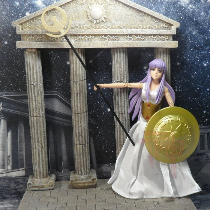 MODEL FANS Hong Kong version of the goddess Athena Saint Seiya Myth Cloth Deluxe Kit free shipping hk saint cloth myth goddess athena form saint seiya action fgure casual suit luxury set