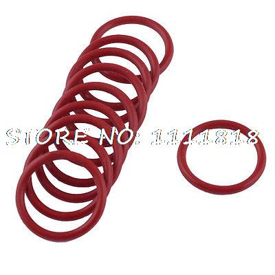 10 Pcs Soft Rubber O Rings Seal Washer Replacement Red 25mm x 2.5mm
