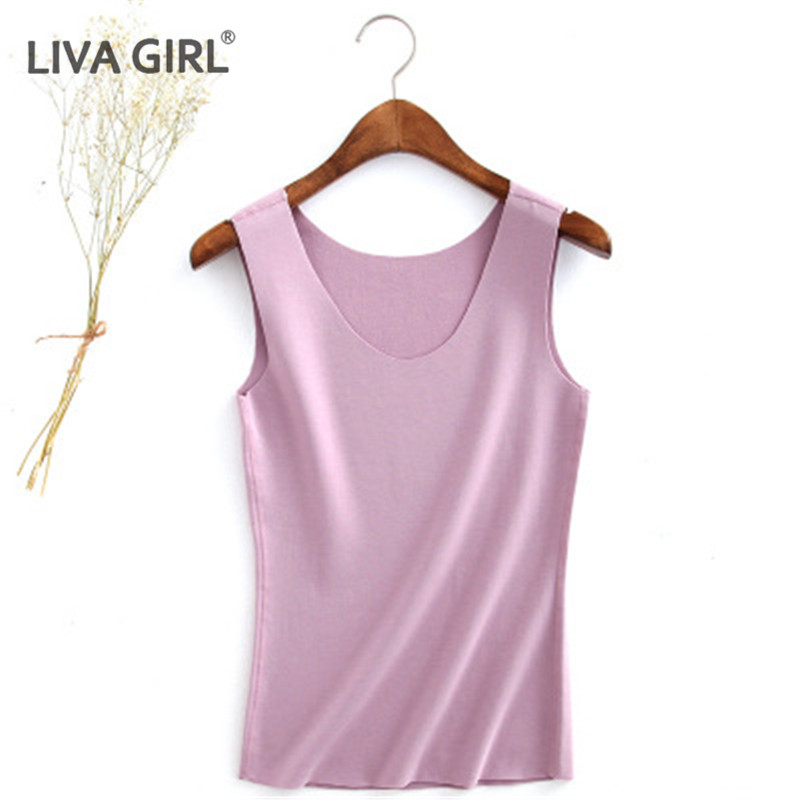 2018 Autumn Warm Tank Tops Women Thermal Slim Solid Tank Winter Ladies Warm Casual Basic Style U-Neck Tank Top